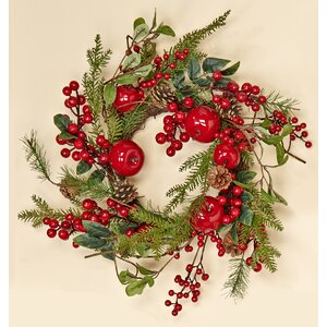 Weatherproof Berry and Apple Wreath