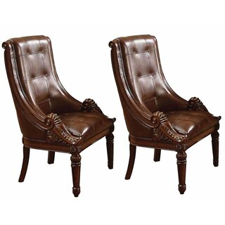 Wetherbee Faux Leather Upholstered Wooden Side Chair by Astoria Grand SKU:AA521978 Price Compare