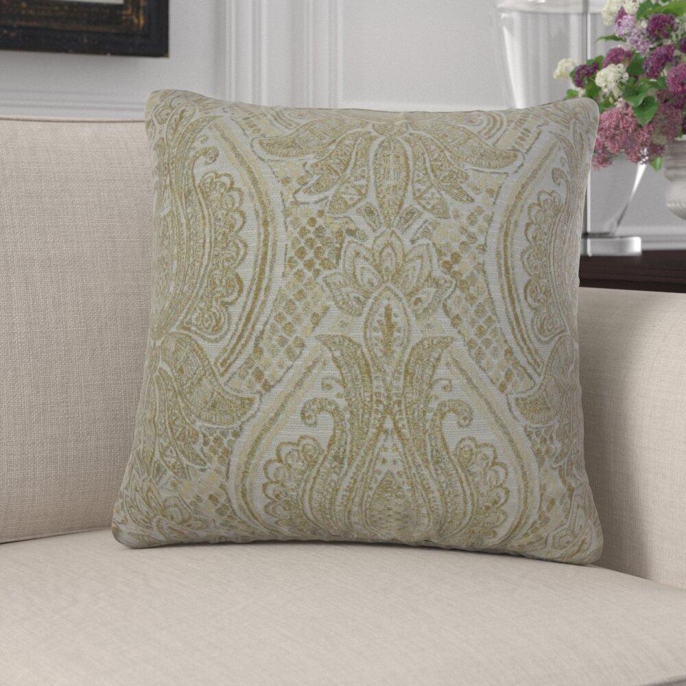Astoria Grand Mendoza Damask Pillow Wayfair