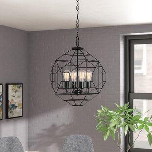4-Light Geometric Chandelier by Wrought Studio