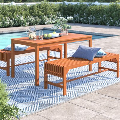 Sol 72 Outdoor Hershman 3 Piece Dining Set