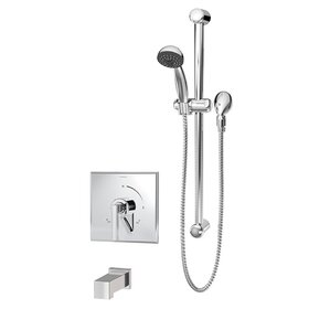 sprayer for tub faucet. Duro Single Handle 1 Spray Thermostatic Tub and Shower Faucet with Square  Spout Panel With Wayfair