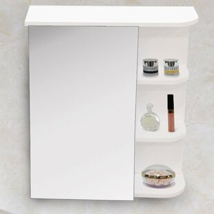 Price comparison 17.5 x 22 Surface Mount Frameless Medicine Cabinet By Adeco Trading