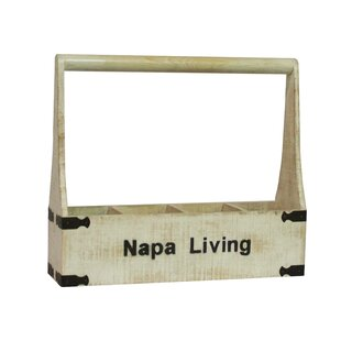 Napa Living 4 Bottle Tabletop Wine Rack b..