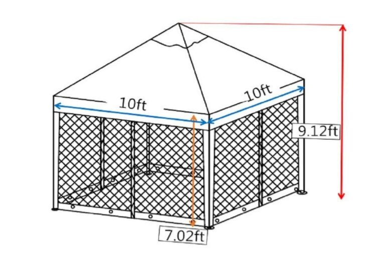 abba patio 10 ft w x 10 ft d steel pop up canopy - Abba Patio