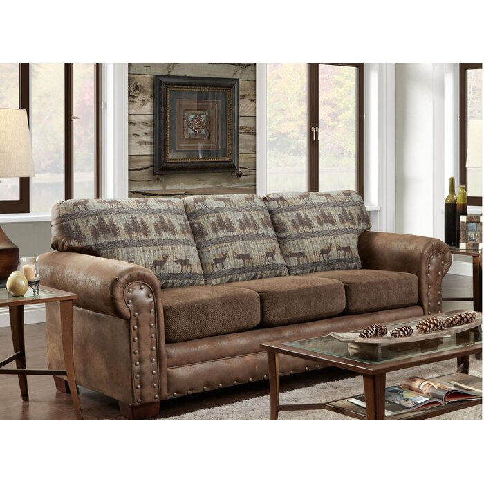Buster Teal Deer Lodge Sleeper Sofa