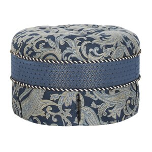 Hallie Decorative Round Ottoman by Jennifer Taylor