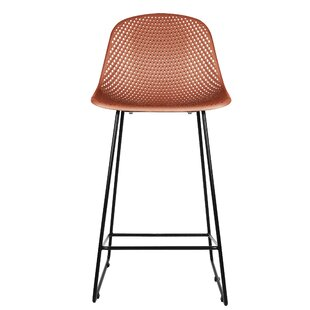 Diamond Mesh 75cm Bar Stool (Set Of 2) By Leitmotiv