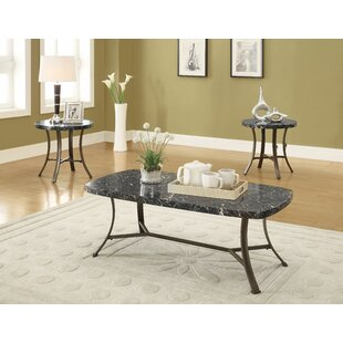 Amezquita 3 Piece Coffee Table Set