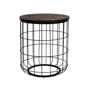 Bon Helsel Industrial Wire End Table