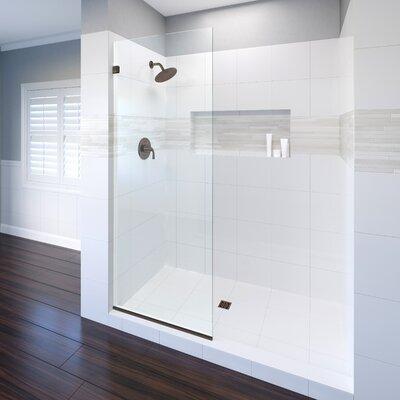 """Basco Celesta 32"""" x 76"""" Frameless Shower Door  Finish: Oil Rubbed Bronze"""