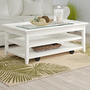 Best Cliffside Coffee Table with Tray Top By Beachcrest Home