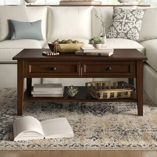 Read Reviews Erica Coffee Table with Storage by Birch Lane™ Heritage