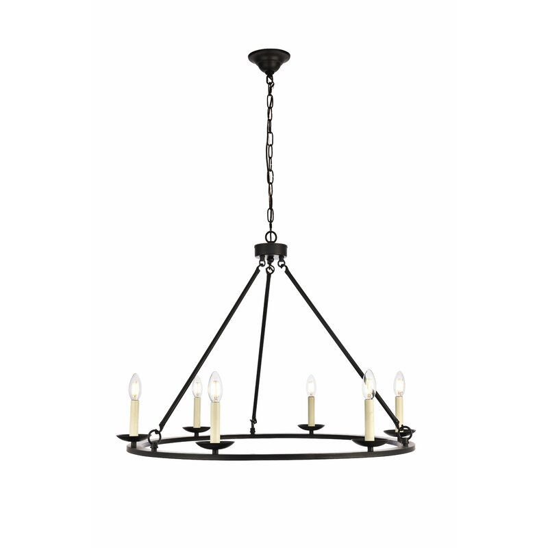 Stony Creek 6-Light Wagon Wheel Chandelier