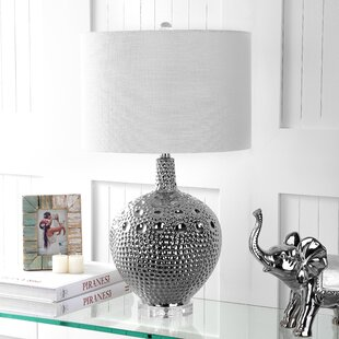 Reviews Russo Ceramic 26.5 Table Lamp By Rosdorf Park