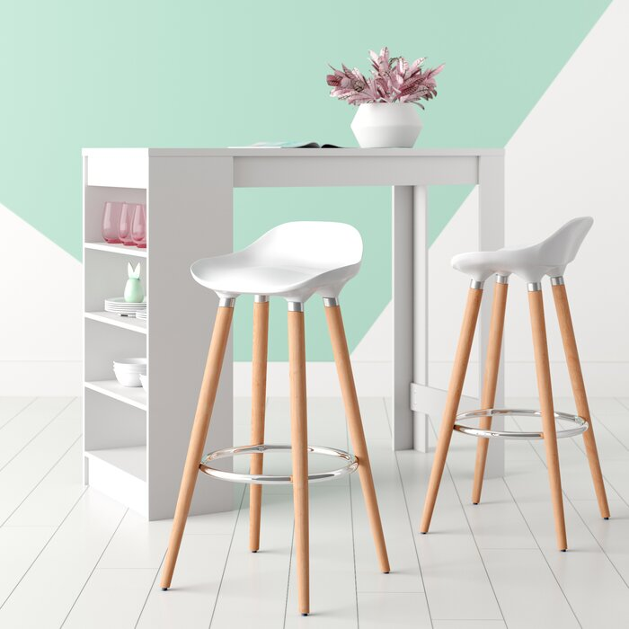 Fantastic Smythe Abs Breakfast Wooden Leg 29 Bar Stool Caraccident5 Cool Chair Designs And Ideas Caraccident5Info