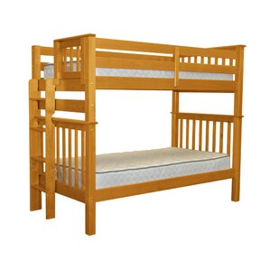 Mission Tall Twin Over Twin Bunk Bed by Bedz King