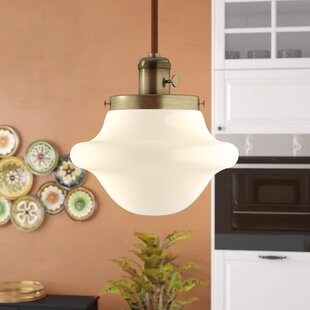 Andover Mills Botkins 1-Light Schoolhouse Pendant