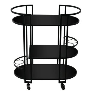 Michaella Contemporary Metal Framed Bar Cart by Latitude Run