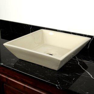 Affordable Ceramic Square Vessel Bathroom Sink ByD'Vontz
