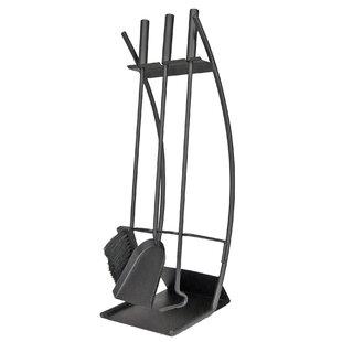 Traverse 4 Piece Steel Fireplace Tool Set By Symple Stuff