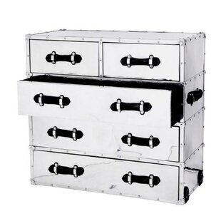 Catalina Aluminum 5 Drawer Chest by Eichholtz