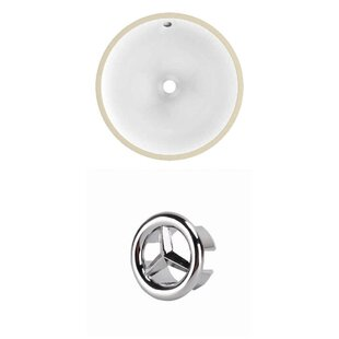 Inexpensive Ceramic Circular Undermount Bathroom Sink with Overflow By Royal Purple Bath Kitchen