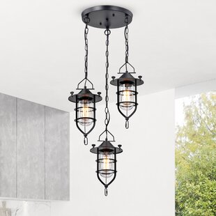 Amoll 3-Light Cluster Pendant by 17 Stories