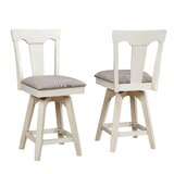 Yvonne Panel Back 29 Swivel Bar Stool (Set of 2) by Gracie Oaks