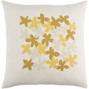 Flying Colors Little Flower Linen Throw Pillow