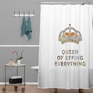 Bianca Green Her Daily Motivation Single Shower Curtain