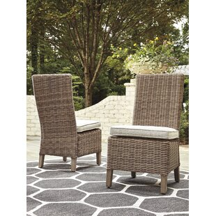 Find for Farmersville Patio Dining Chair with Cushion (Set of 2) Best Deals