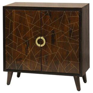 Destin Geometric Pattern 2 Door Accent Cabinet