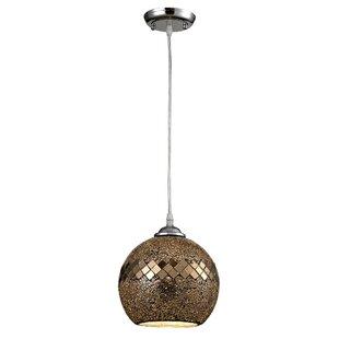 Mercer41 Sera Glass 1-Light Globe Pendant