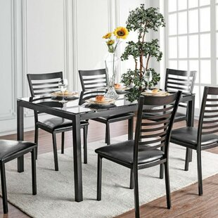 Mitchell Contemporary 5 Piece Solid Wood Dining Set by Winston Porter Great Reviews