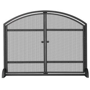 metal fireplace screens. Single Panel Wrought Iron Fireplace Screen Screens  Doors You ll Love Wayfair