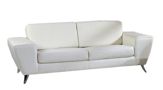 Off White Leather Sofa | Wayfair