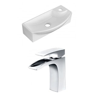 Check Prices Ceramic 17.75 Bathroom Sink with Faucet ByRoyal Purple Bath Kitchen