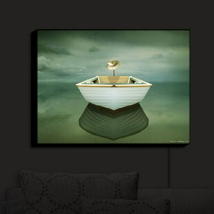 Longshore Tides Time Out XIV Boat' Print on Fabric