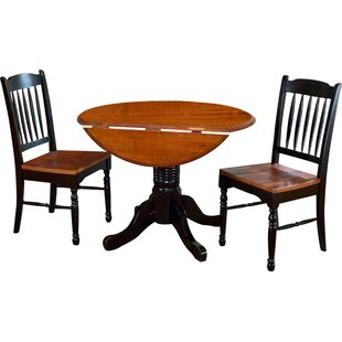 Shelburne 3 Piece Extendable Solid Wood Bistro Set by Laurel Foundry Modern Farmhouse Amazing