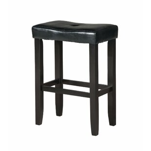 Kingston Seymour Wooden 24 Bar Stool (Set of 2) Winston Porter