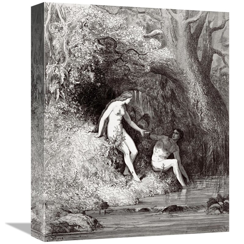 East Urban Home Adam Eve In Paradise From Milton S Paradise Lost Print On Canvas Wayfair Ca