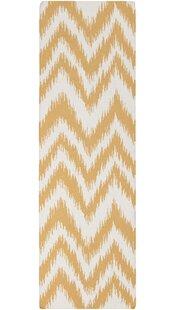 Affordable Marion Golden Raisin & Ivory Zig Zag Area Rug ByZipcode Design