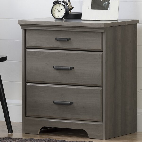 Delightful South Shore Versa 3 Drawer Nightstand With Charging Station U0026 Reviews |  Wayfair