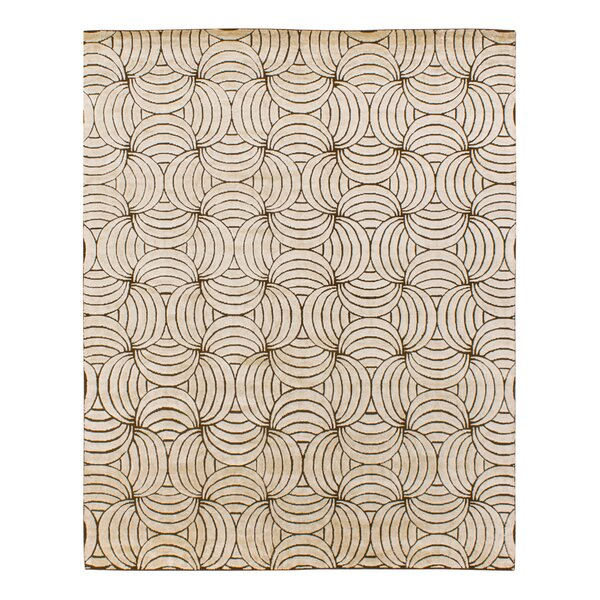 Solo Rugs Grit And Ground Abstract Hand Knotted Wool Beige Brown Area Rug Wayfair