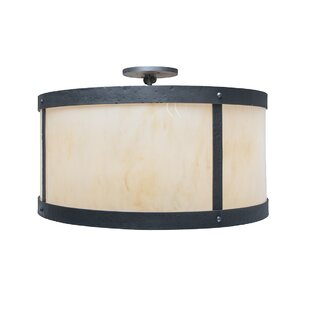Unger 2-Light Semi Flush Mount by Millwood Pines