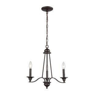 Gracie Oaks Medina 3-Light Candle Style C..