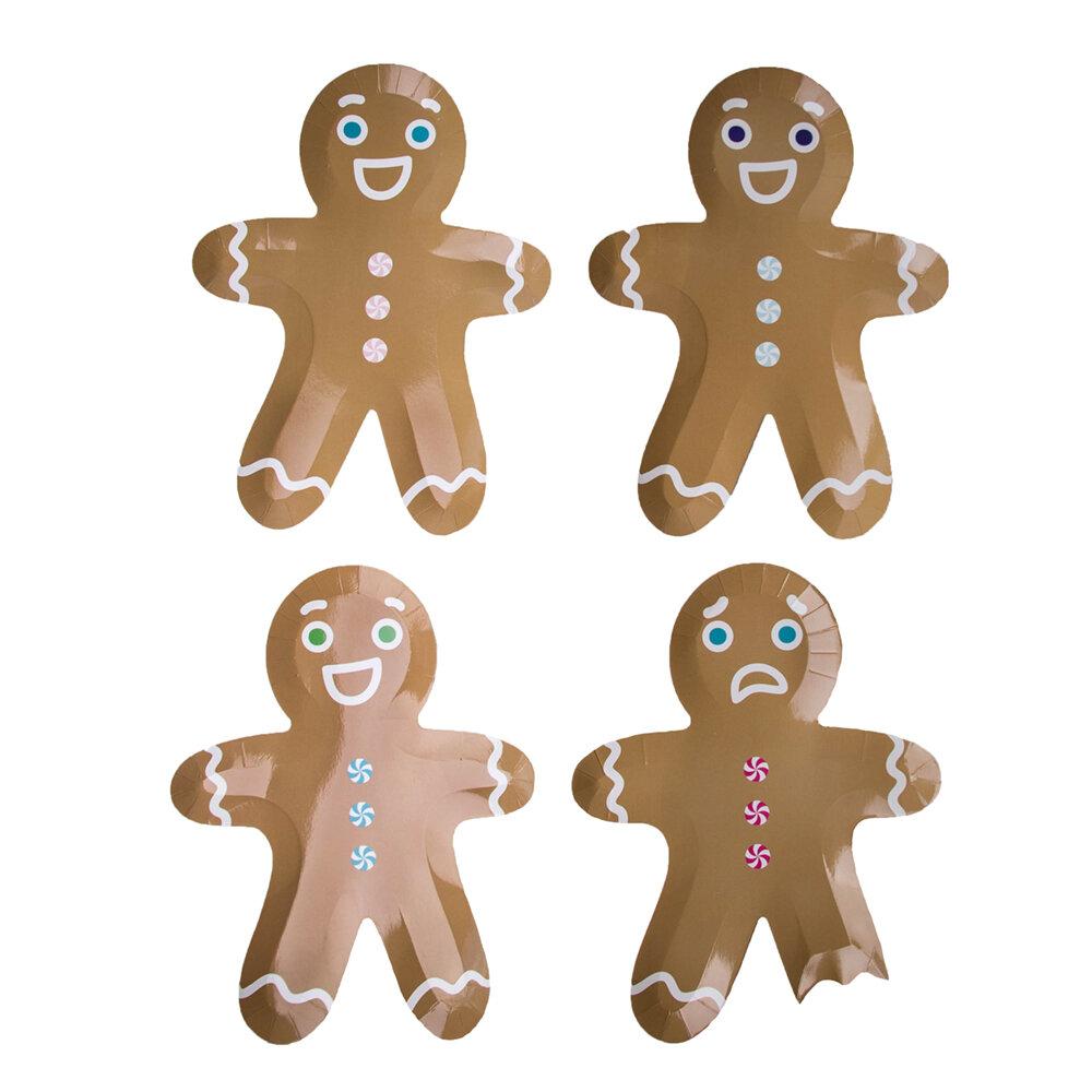 Jollity Co Party Boutique Gingerbread Men Heavy Weight Paper Disposable Dessert Plate Wayfair