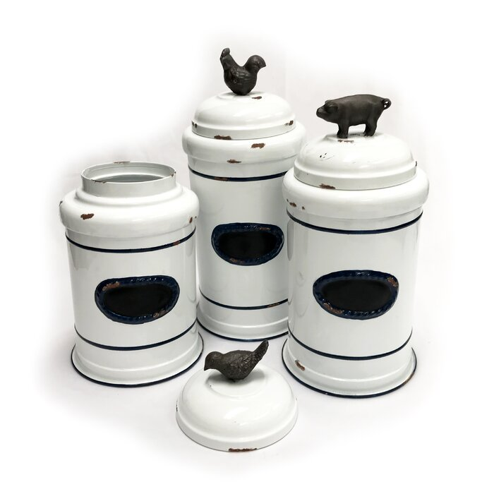 Farmhouse 3 Piece Kitchen Canister Set