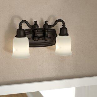 Clearance Biggerstaff 2-Light Vanity Light By Three Posts